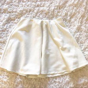 Forever 21 White Textured Skater Skirt